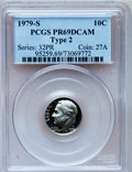 Proof Roosevelt Dimes: , 1979-S 10C Type Two PR69 Deep Cameo PCGS. PCGS Population(2997/190). Numismedia Wsl. Price for problem...