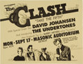 "Music Memorabilia:Posters, The Clash ""Take the Fifth"" Masonic Auditorium Detroit Handbill (Sonof Bamboo, 1979)...."