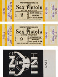 Music Memorabilia:Tickets, Sex Pistols Kingfish Club Baton Rouge Ticket and Pass Group (Kingfish Productions, 1978). ... (Total: 3 Items)
