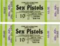Music Memorabilia:Tickets, Sex Pistols Longhorn Ballroom Dallas Concert Ticket Group (StoneCity Attractions, 1978).... (Total: 2 Items)