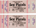 Music Memorabilia:Tickets, Sex Pistols Randy's Rodeo San Antonio Concert Ticket Group (StoneCity Attractions, 1978).... (Total: 2 Items)