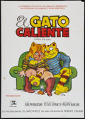 "Movie Posters:Animated, Fritz the Cat (Cinemation Industries, 1972). Spanish One Sheet(27.5"" X 39""). Animated.. ..."