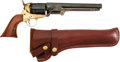 Handguns:Single Action Revolver, Italian Reproduction Colt Model 1851 Navy Percussion Revolver by F. Llipietta together with Associated Modern Holster...