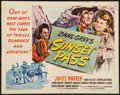 """Movie Posters:Western, Sunset Pass (RKO, 1946). Half Sheet (22"""" X 28"""") Style A. Western.. ..."""