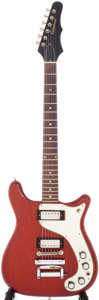 Musical Instruments:Electric Guitars, 1965 Epiphone Wilshire Cherry Solid Body Electric Guitar,#313321....