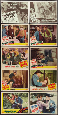 """Brand of the Devil and Others Lot (PRC, 1944). Title Lobby Card and Lobby Cards (9) (11"""" X 14""""). Western..."""