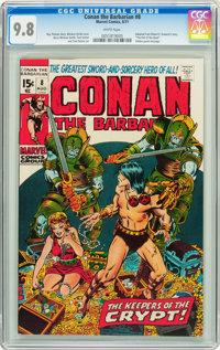 Conan the Barbarian #8 (Marvel, 1971) CGC NM/MT 9.8 White pages