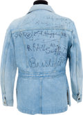 Movie/TV Memorabilia:Memorabilia, An Andy Warhol, Jean-Michel Basquiat, Robert Rauschenberg andOthers Signed Jacket....
