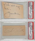 Movie/TV Memorabilia:Autographs and Signed Items, Frank Sinatra Autograph Cuts.... (Total: 2 Items)