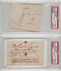 Movie/TV Memorabilia:Autographs and Signed Items, Walt Disney Cut Signatures.... (Total: 2 Items)