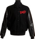 Music Memorabilia:Memorabilia, A Wool and Leather Jacket from the Bad World Tour....
