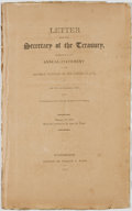 Books:Americana & American History, Letter from the Secretary of the Treasury, Transmitting theAnnual Statement of the District Tonnage of the United States,o...