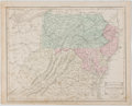 Books:Maps & Atlases, Color Map of the Southern United States. From Cornell's High School Geography. New York: Appleton, 1856. Measures 13.5 x...