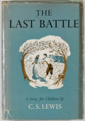 Books:Children's Books, C. S. Lewis. The Last Battle. New York: Macmillan, [1956].First American edition. Octavo. 174 pages. Publisher's b...