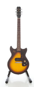 Musical Instruments:Electric Guitars, 1965 Epiphone Olympic Sunburst Solid Body Electric Guitar, Serial#319579....