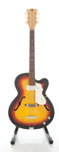 Musical Instruments:Electric Guitars, 1960's Vox Wildcat Sunburst Archtop Electric Guitar, Serial #275581....