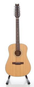Musical Instruments:Acoustic Guitars, Washburn D-12-12LH Natural 12 String Acoustic Guitar, Serial #8906007....