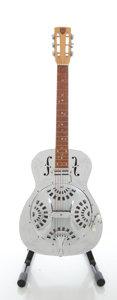 Musical Instruments:Acoustic Guitars, 1976 Dobro Squareneck Chrome Resonator Guitar, Serial #B3416....
