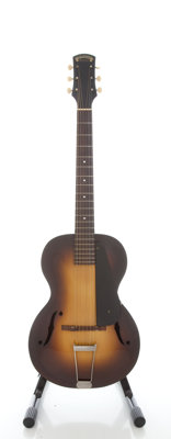 Circa 1934 Epiphone Olympic Sunburst Archtop Acoustic Guitar, Serial #7724