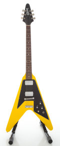 Musical Instruments:Electric Guitars, Circa 1968 Gibson Flying V Refinished Solid Body Electric Guitar,Serial #907008....