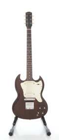 Musical Instruments:Electric Guitars, 1968 Gibson Melody Maker SG Walnut Electric Guitar, Serial #520017...
