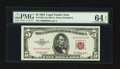 Small Size:Legal Tender Notes, Fr. 1532 $5 1953 Legal Tender Note. PMG Choice Uncirculated 64 EPQ.. ...
