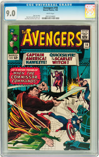 The Avengers #18 (Marvel, 1965) CGC VF/NM 9.0 White pages