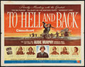 "Movie Posters:War, To Hell and Back (Universal International, 1955). Half Sheet (22"" X28""). Style B. War.. ..."