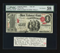 National Bank Notes:Maine, Augusta, ME - $1 Original Fr. 380 The First NB Ch. # 367. ...