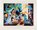 Memorabilia:Comic-Related, Carl Barks Halloween in Duckburg Regular Edition Lithograph #77/395 (Another Rainbow, 1992).... (Total: 3 Items)