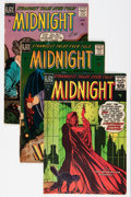 Golden Age (1938-1955):Horror, Midnight #1, 4, and 6 Group (Ajax / Farrell, 1957-58).... (Total: 3Comic Books)