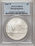 Modern Issues, 2007-P $1 Little Rock MS70 PCGS. PCGS Population (470). NGC Census:(1744). Numismedia Wsl. Price for problem free NGC/PCG...