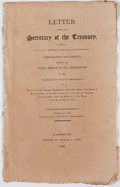 Books:Americana & American History, Letter from the Secretary of the Treasury, Transmitting,Pursuant to a Resolution of the House of Representatives,Comparati...
