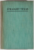 Books:Americana & American History, [J. Frank Dobie and Mody C. Boatright, editors]. SIGNED.Straight Texas. Austin: Texas Folk-Lore Society, [1937]...