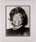 Autographs:Artists, Ella Fitzgerald Photograph Signed....