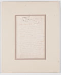 Autographs:Artists, Pablo Casals Autograph Letter Signed....