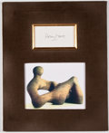 Autographs:Artists, Henry Moore Signature....