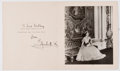 Autographs:Non-American, Elizabeth, Queen Mother Signed Christmas Card....