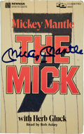 """Baseball Collectibles:Publications, Mickey Mantle Signed """"The Mick"""" Audio Cassette Lot...."""