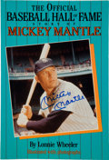 Baseball Collectibles:Publications, Mickey Mantle Signed Book....