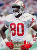 Football Collectibles:Photos, Jerry Rice Signed Oversized Photographs Lot of 2....