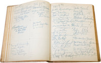 A Guest Book Signed by Countless A-List Celebrities, 1950-1966