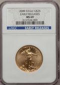 Modern Bullion Coins, 2008 $25 Quarter-Ounce Gold Eagle Earle Releases MS69 NGC. PCGSPopulation (25/0). (#393100)...