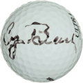 Golf Collectibles:Autographs, George H.W. Bush Signed Golf Ball....