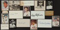 Baseball Collectibles:Others, Baseball Greats Signed Cut Signatures Lot of 10....