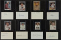 Baseball Collectibles:Others, Baseball Greats Signed Index Cards Lot of 18....