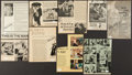 Miscellaneous Collectibles:General, Doris Day Signed Magazine Clippings Lot of 9....