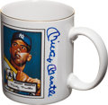 Baseball Collectibles:Others, Mickey Mantle Signed Rookie Card Mug....