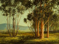 Fine Art - Painting, American:Contemporary   (1950 to present)  , RAY SWANSON (American, 1937-2004). Eucalyptus Trees near PalmSprings. Oil on canvas . 18 x 24 inches (45.7 x 61.0 cm). ...