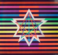 YAACOV AGAM (Israeli, b. 1928) Star of Hope Color screenprint with lenticular plastic screen 14-1